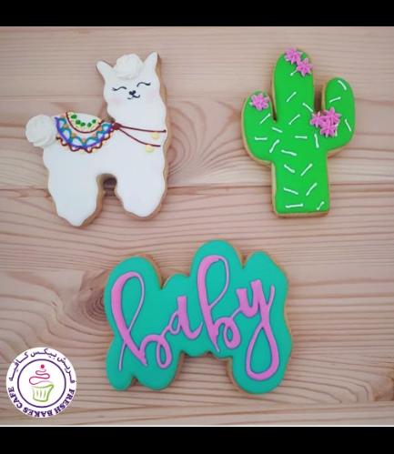 Cookies - Baby Shower - Llama & Cactus