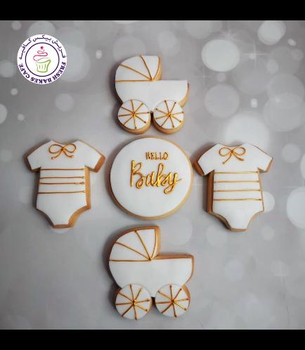 Cookies - Baby Shower - Onesie & Baby Carriage