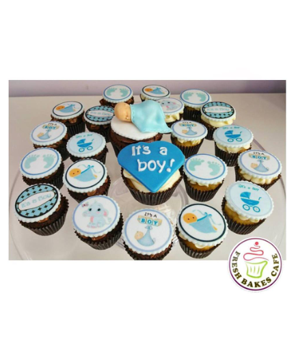Cupcakes - Baby Shower - Boy 03
