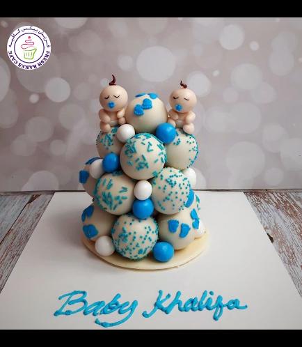 Cake Pops Tower - Baby Shower - Boy