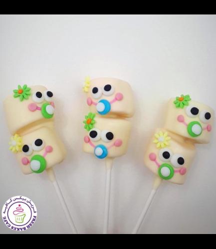 Babies Themed Marshmallow Pops - Girls