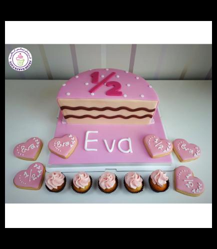Babys 6 Months Birthday Celebration Themed Cake 04b