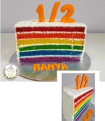 Baby's 6 Months Birthday Celebration Themed Cake 03