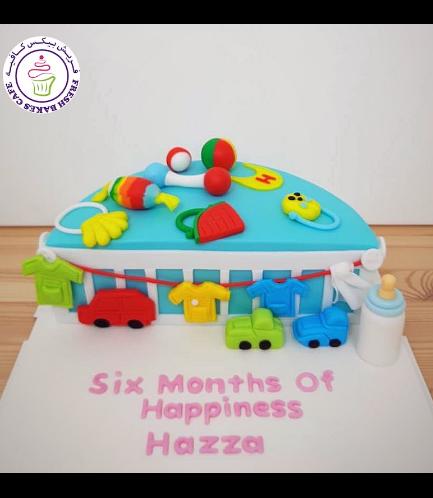 Baby's 6 Months Birthday Celebration Themed Cake - Toys
