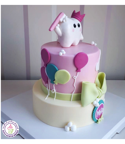 Baby's First Tooth Themed Cake 08b