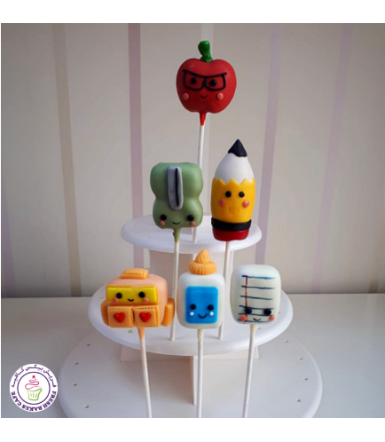 Back to School Themed Cake Pops 4