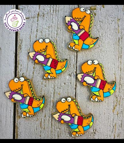 Dinosaur Themed Cookies - Back to School
