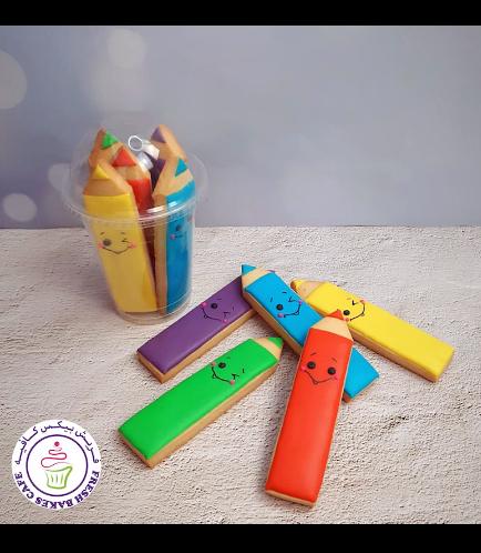 Cookies - Back to School - Pencils - Coloring Pencils
