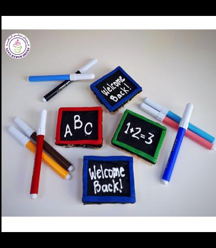 Back to School Themed Krispie Treats - Black Boards