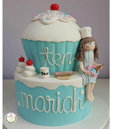 Baker Themed Cake - Pastry Baker 03