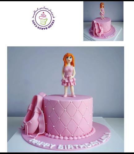Cake - Ballerina - 3D Cake Topper 04
