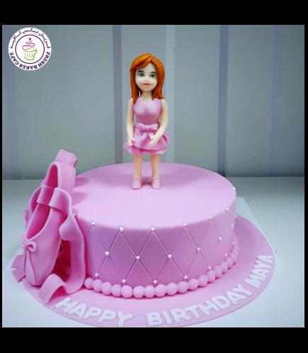 Ballerina Themed Cake - Ballerina Cake Topper 05