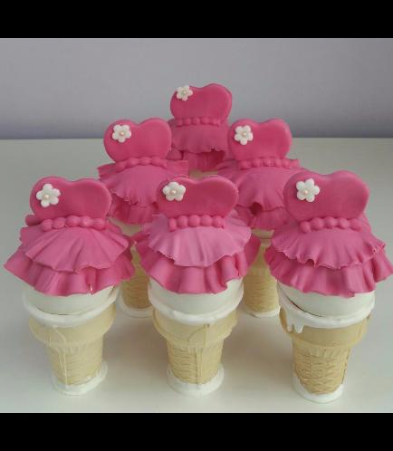 Ballerina Themed Cone Cake Pops
