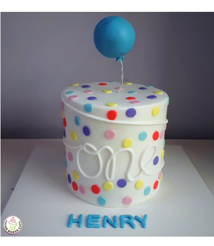 Balloon Themed Cake 01a