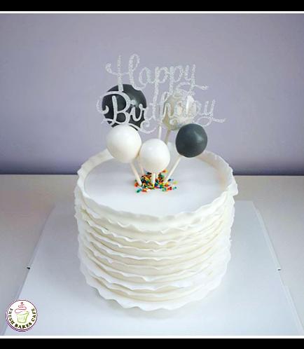 Fondant Ruffle Cake 09