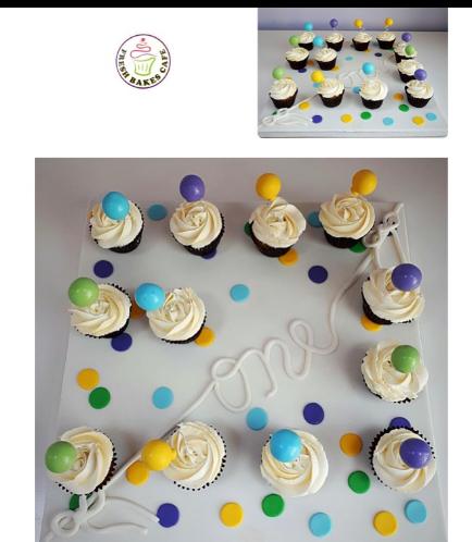Balloon Themed Cupcakes 2