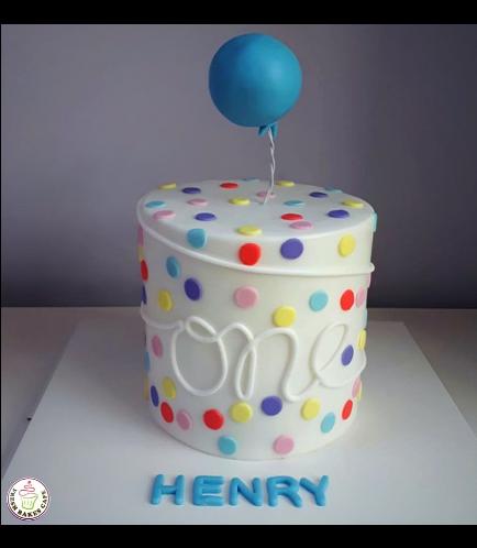 Balloon Themed Cake 02a