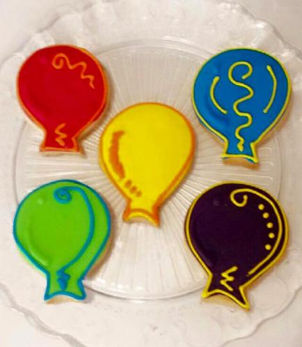 Balloon Themed Cookies