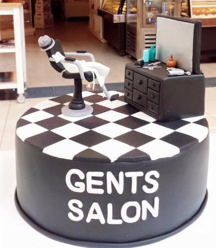 Barber Themed Cake