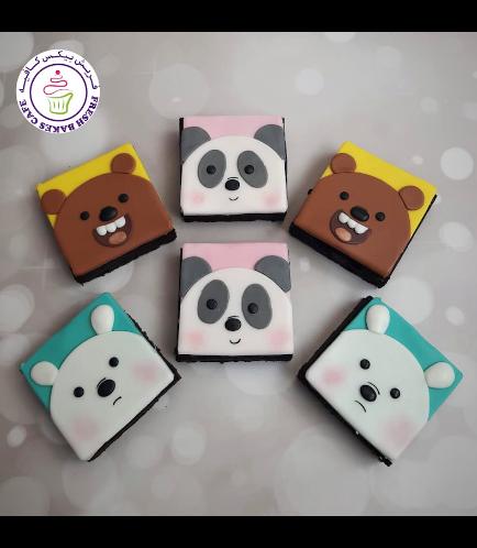 Bare Bears Themed Brownies