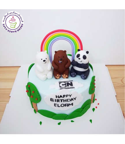 Bare Bears Themed Cake - 3D Cake Toppers