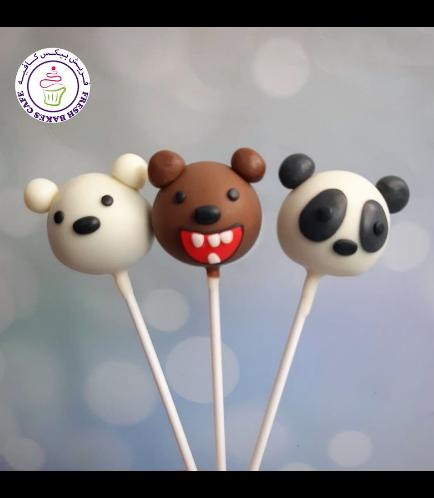 Bare Bears Themed Cake Pops