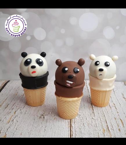Bare Bears Themed Cone Cake Pops