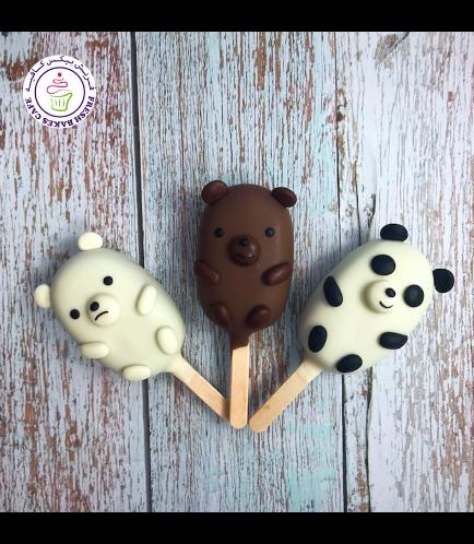 Bare Bears Themed Popsicakes