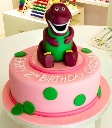 Barney Themed Cake - 3D Cake Topper
