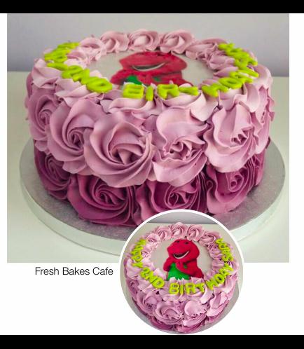 Barney Themed Cake 02