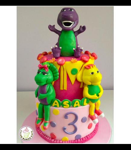 Barney Themed Cake 03