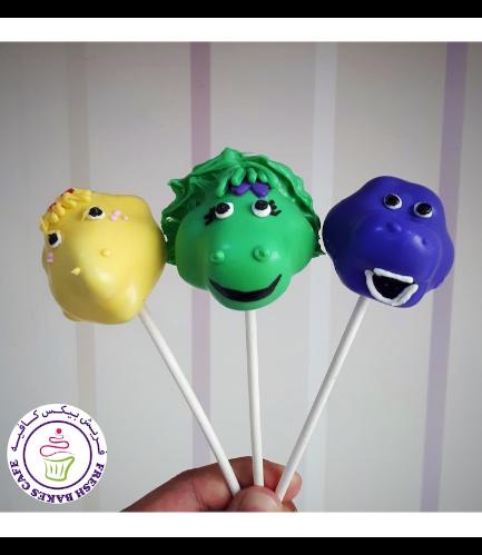 Barney Themed Cupcakes
