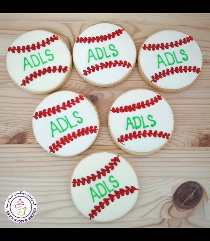Baseball Themed Cookies - Baseball Ball 02