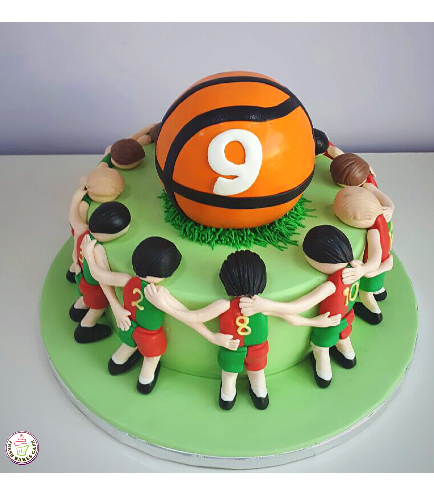 Basketball Themed Cake - Team & Basket Ball Cake Toppers