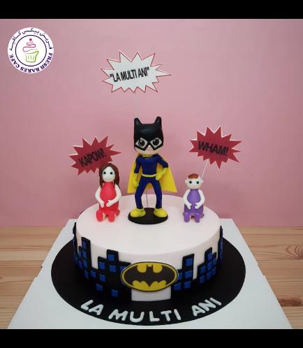 BatGirl Themed Cake - 1 Tier 02b