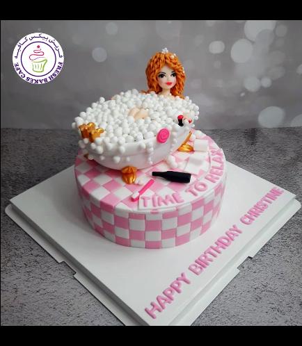 Bathtub Themed Cake - 3D Cake Topper 02