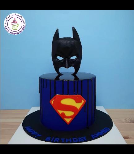 Batman & Superman Themed Cake 02