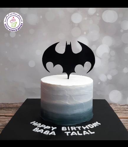 Batman Themed Cake - Logo - Cream Cake 02