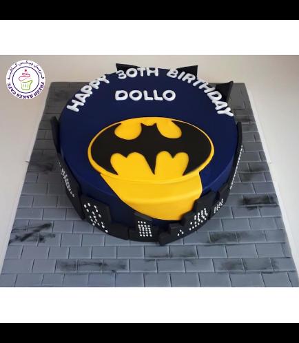 Batman Themed Cake - Logo - Fondant Cake - Blue - Dark Blue 01
