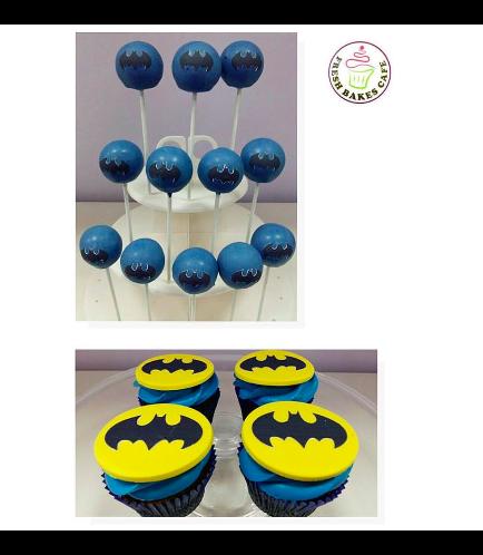 Batman Themed Cake Pops & Cupcakes