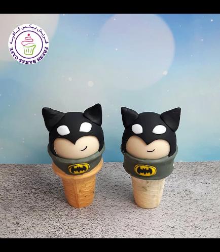 Batman Themed Cone Cake Pops
