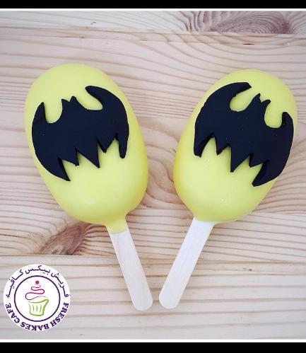 Batman Themed Popsicakes