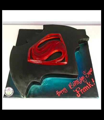 Batman vs Superman Themed Cake