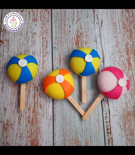 Beach themed Popsicakes - Beach Balls