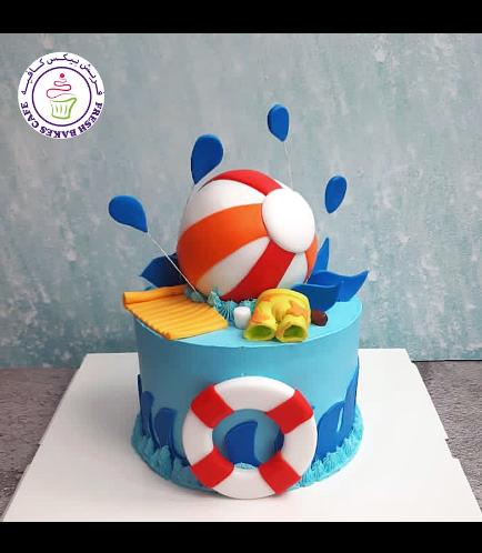 Beach Themed Cake - Beach Ball