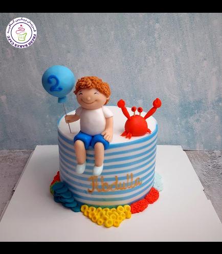 Beach Themed Cake - Boy & Crab 02