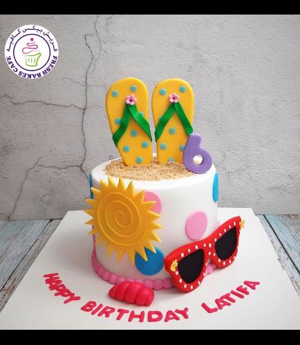 Beach Themed Cake - Flip Flops 02