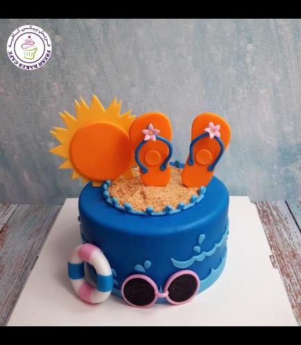 Beach Themed Cake - Flip Flops 04