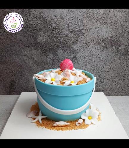 Beach Themed Cake - Sand Pail - 3D Cake 01