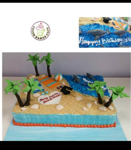 Beach Themed Cake 03